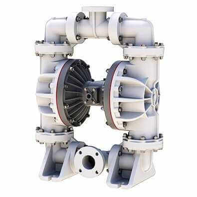 Non Metallic diaphragm Pump handle both corrosive fluids and small suspended solids.