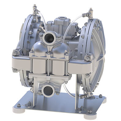 ST1-1-2 diaphragm pump is used for leak free pump for paint and coating
